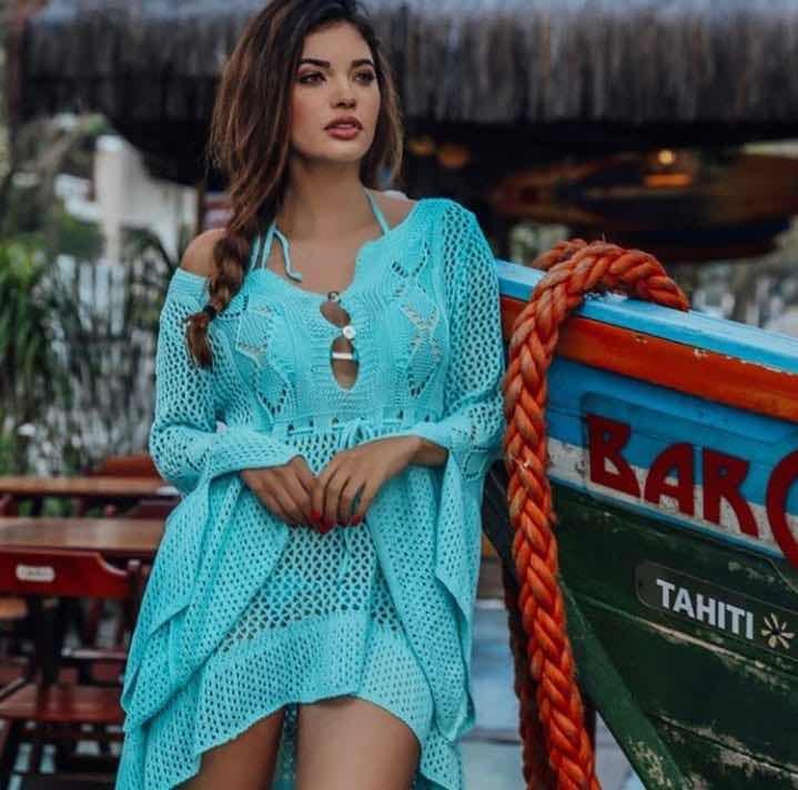 5c3772691 Saída De Praia Manga Flare Moda Praia Verão 2019 - R$ 55,00 em ...