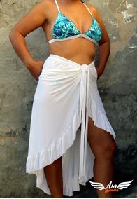f1ac4ff422e1 Saida Praia Branca Camisao Tecido Fino - Calçados, Roupas e Bolsas com o  Melhores Preços no Mercado Livre Brasil