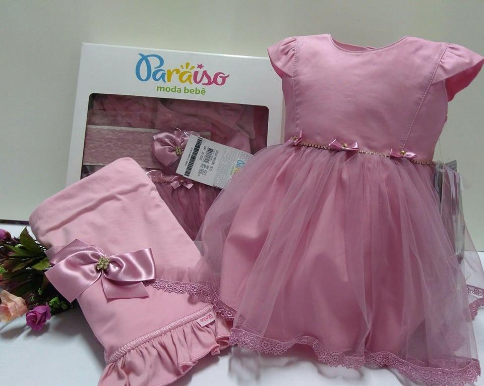7efe0b82be57a saida maternidade bebê menina paraiso vestido faixa ref 7579. Carregando  zoom.