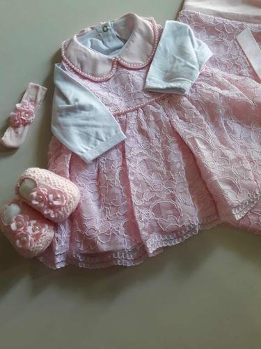 saída maternidade de luxo rosa princesa maria clara acessor
