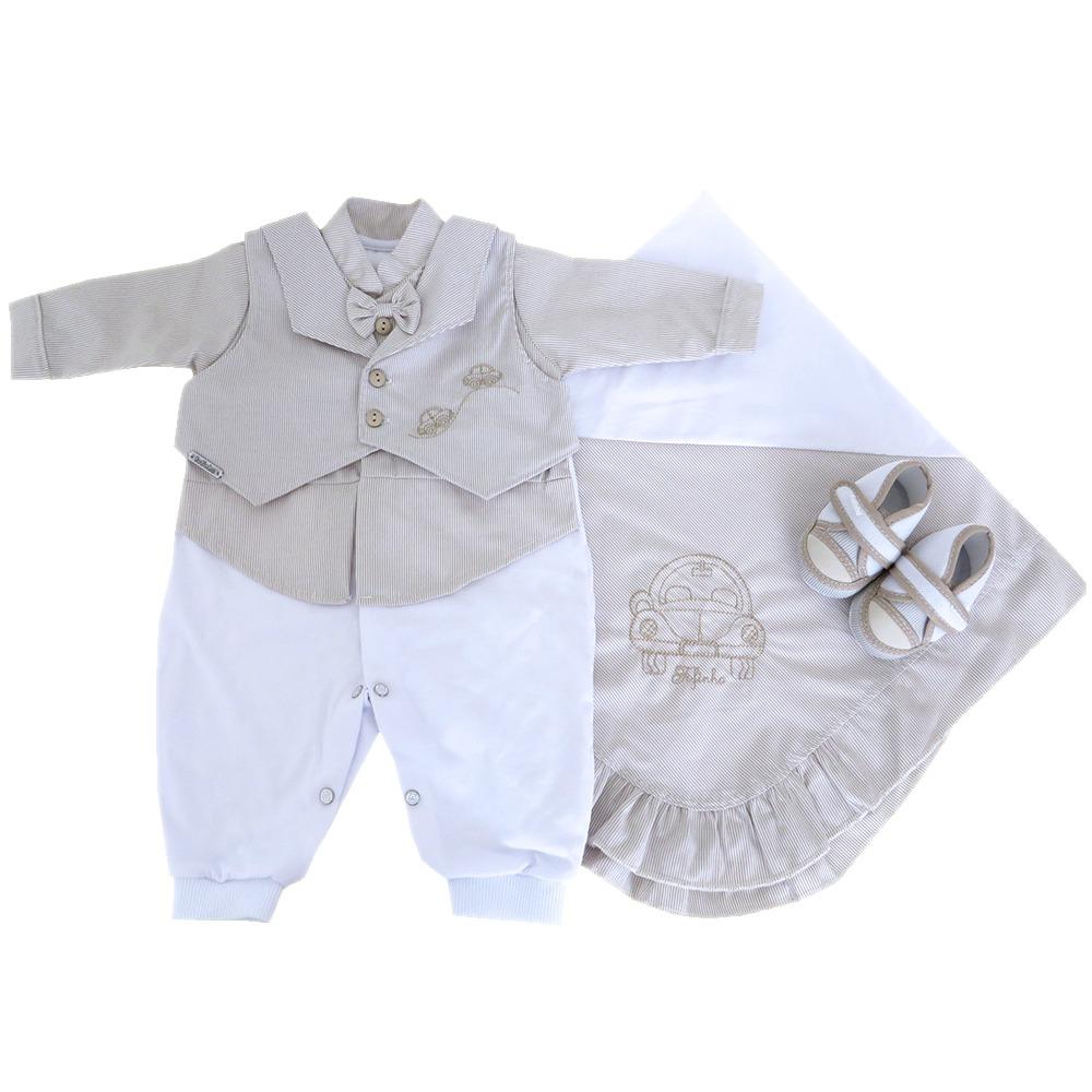 b16960b5dfa25 saída maternidade e roupa batizado bebê menino 4 pçs fofinho. Carregando  zoom.