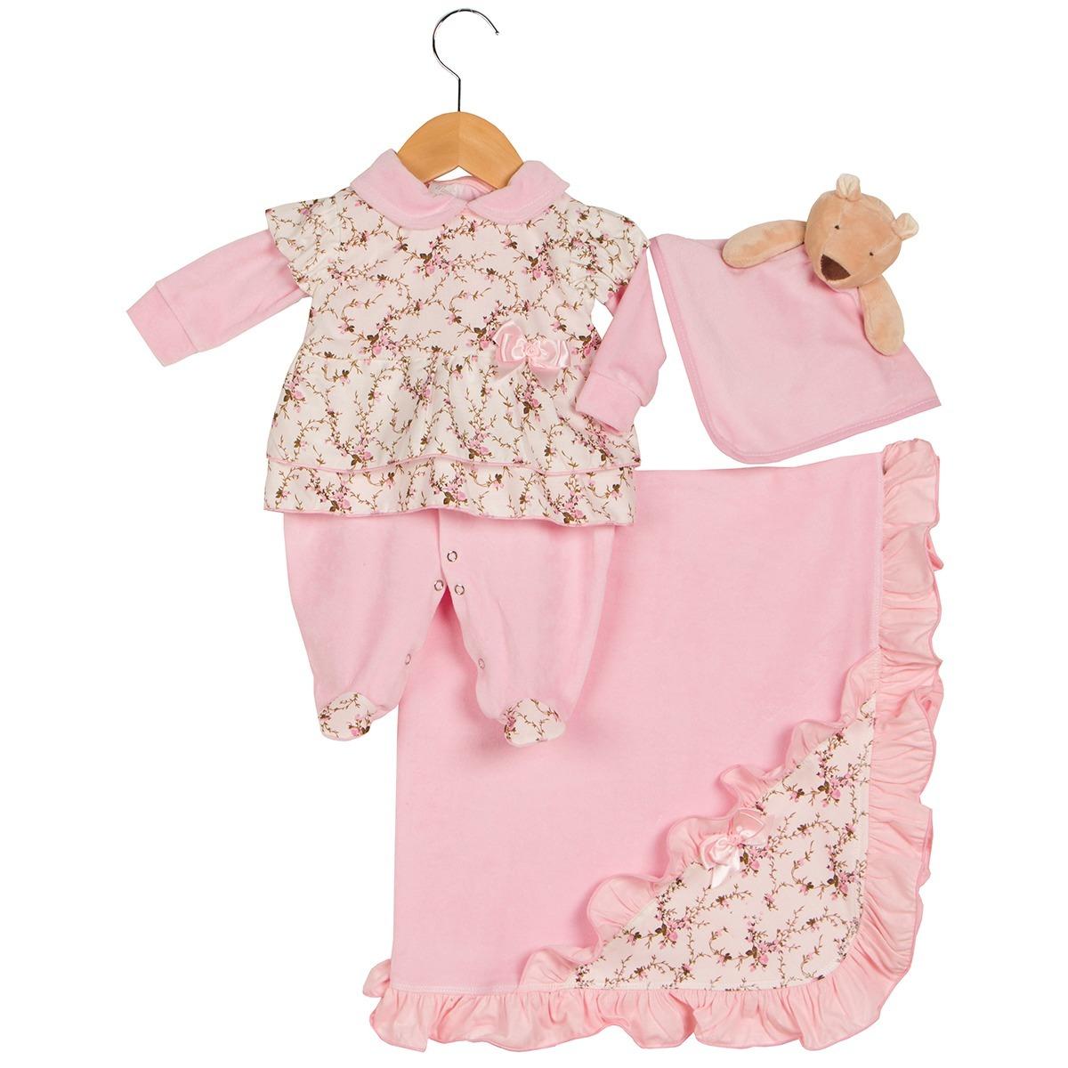 c0a49c5bdf saida maternidade elegance rosa - 04 peças - frete grátis. Carregando zoom.