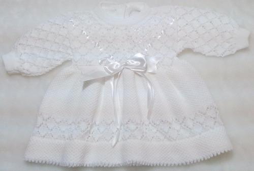 saída maternidade manta vestido inverno manga crochê ref.160