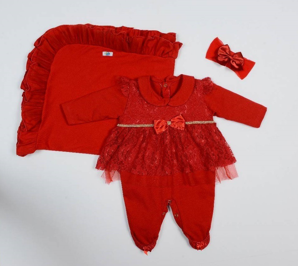 saída maternidade menina renda e tule vermelho com faixa. Carregando zoom. aaefa924eec