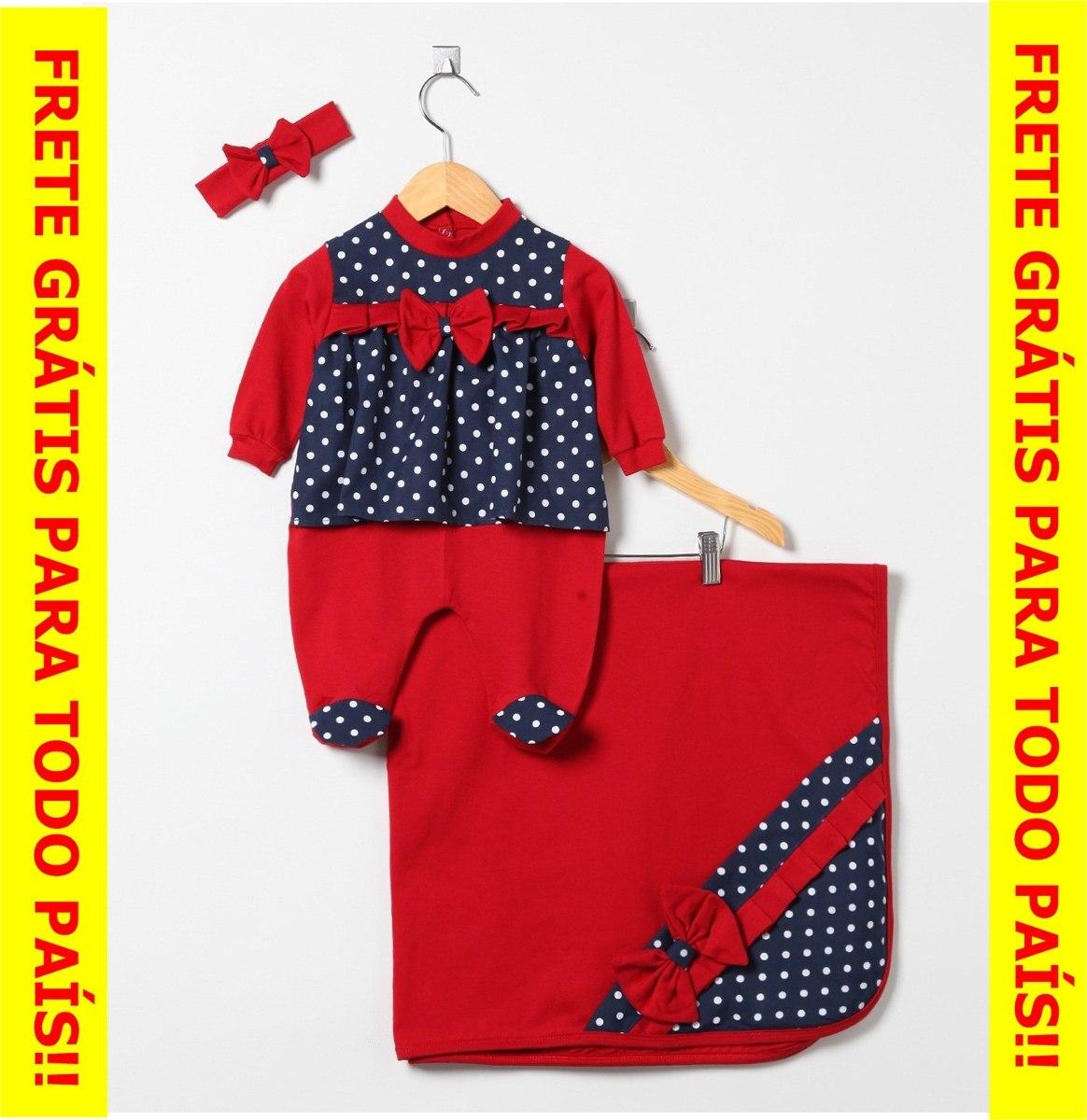 f5b2fdec74 saída maternidade menina vermelho eazul bolinha-frete grátis. Carregando  zoom.