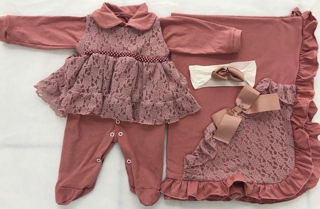 757c59981 Saida Maternidade Menina Vestido Rosa - R  169