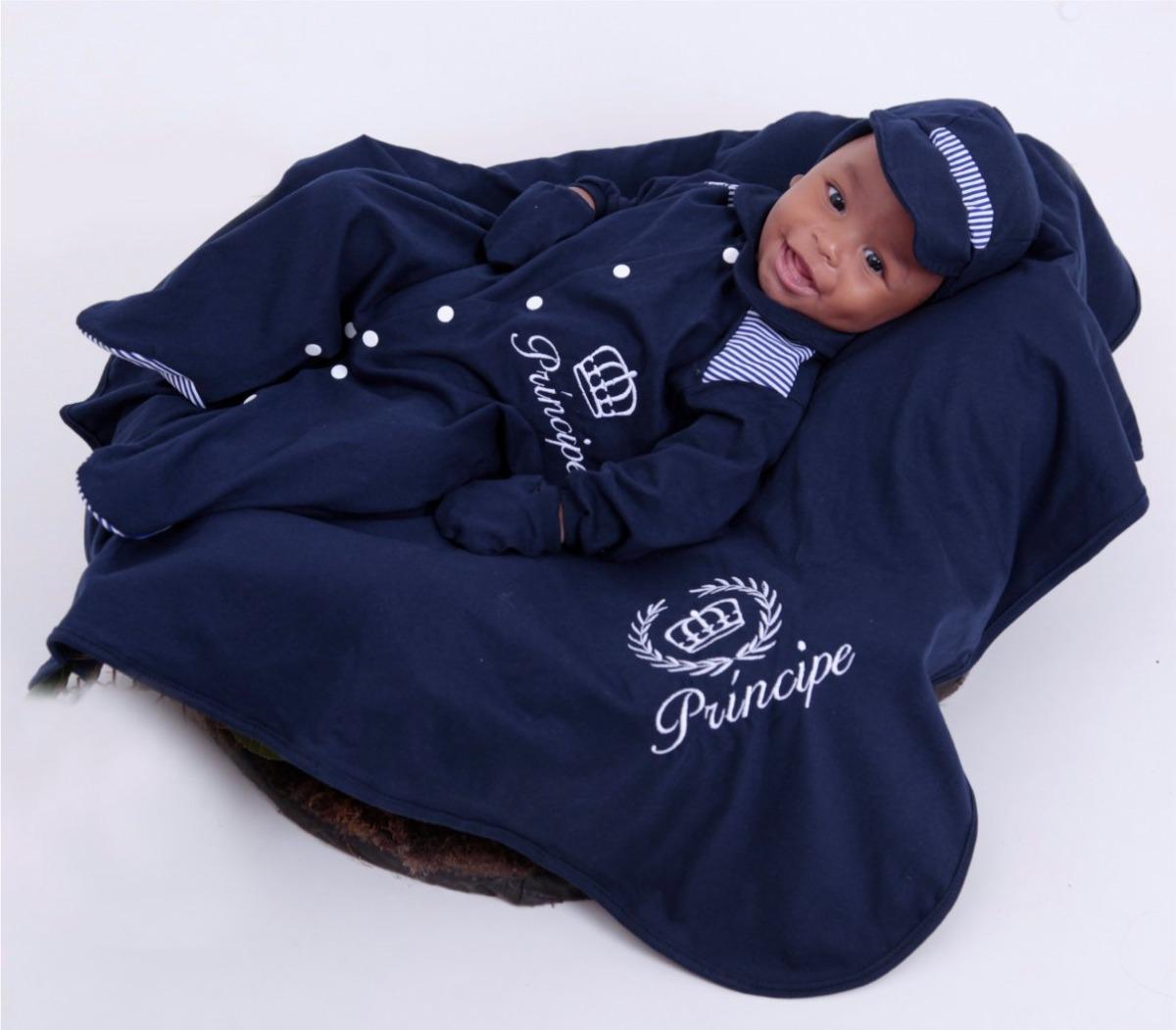 Saída Maternidade Menino Príncipe - R  87,19 em Mercado Livre 6555be5192