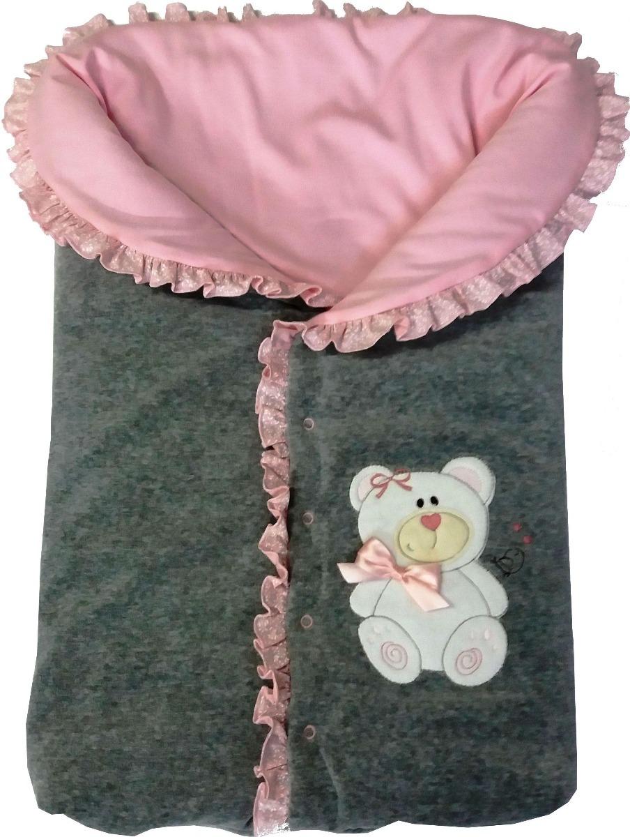 faca01c03a2b9 saída maternidade plush bordada macacão e saco de dormir. Carregando zoom.