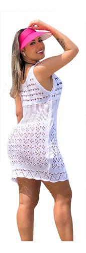 saída praia curta vestido tricot verão regata moda blogueira