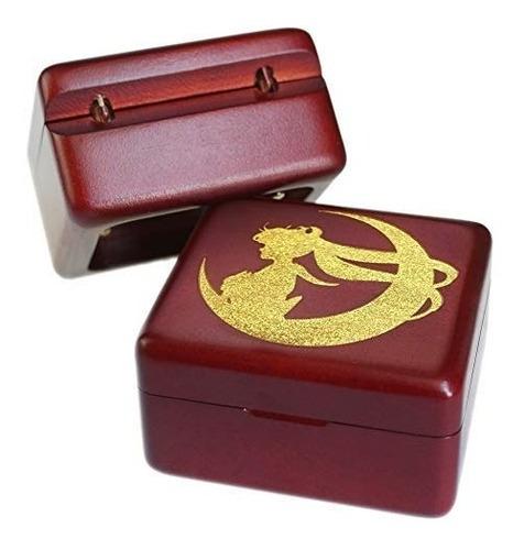 sailor moon caja musical de madera vino rojo sinzyo vintage