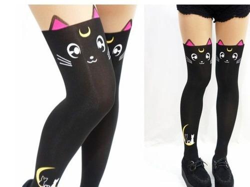 sailor moon -  luna artemis medias de gato kawaii cosplay