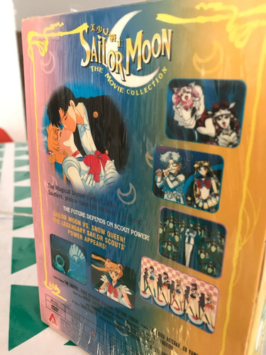 sailor moon movie collection - boxset de películas - dvd