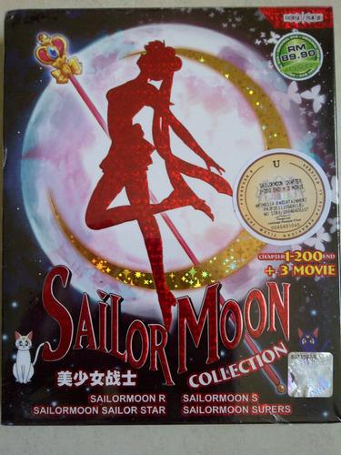 sailor moon serie completa + 3 peliculas