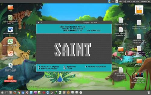 saint contabilidad ver. 4.7 multiempresa para win10