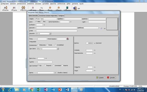 saint de nomina y recursos humanos ver.5.0c windows 64bits
