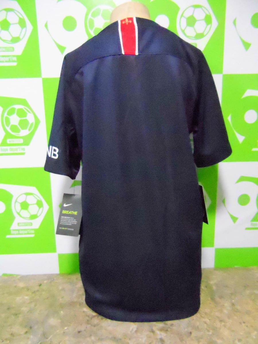 Camiseta Paris Saint Germain 2018-2019 Local Niño Nike Nueva ... 7d5edb8ac593a