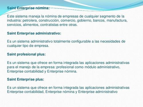 saint profesional 5 administrativo + control de nomina excel