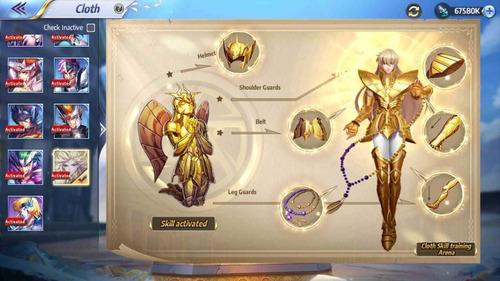 saint seiya awakening serv cosmos coach e análise de conta.
