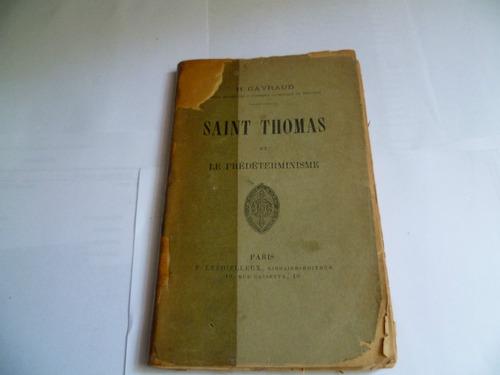 saint thomas et le predeterminisme