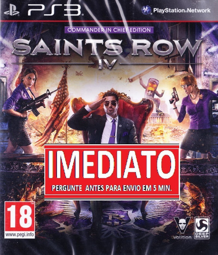 saints row 4 ps3 psn - midia digital