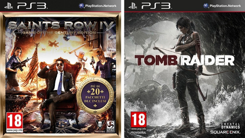 saints row iv game of the century edition + tomb raider ps3