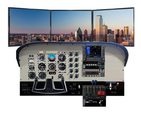 Saitek Pro Flight Yoke System + Rudder Pedals + Fsx