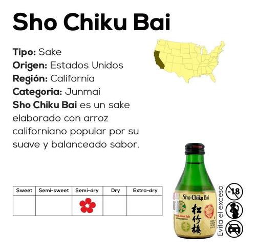 sake sho chiku bai clásico (vino de arroz) 180ml