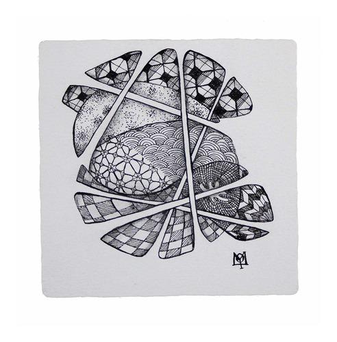 sakura # 50110 zentangle 12 pc set w / 3.5  azulejos blancos