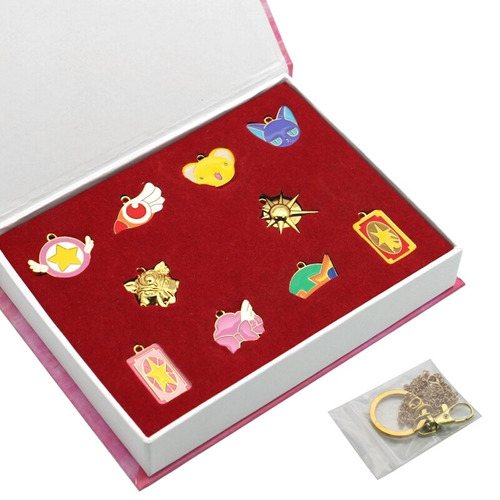sakura card captor 10 collares llavero envio gratis estuche