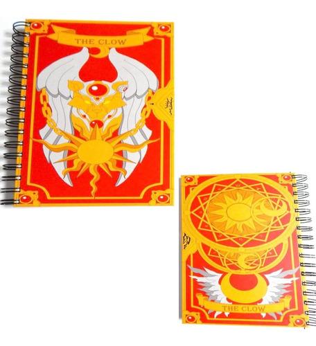 sakura card captor cuaderno the clow pasta dura 180 hojas