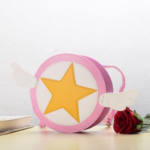sakura cardcaptor - cartera bolsa estrella color rosa