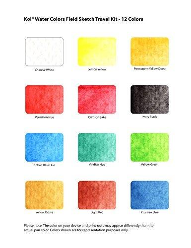 sakura xncw-12h, 12 acuarelas surtido field sketch set con c