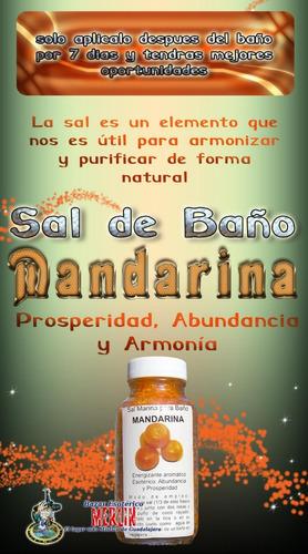 sal de baño de mandarina - prosperidad, abundancia y armonía