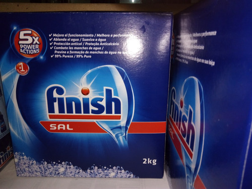 sal finish para lavavajillas 2 kg con envio gratis por $445.