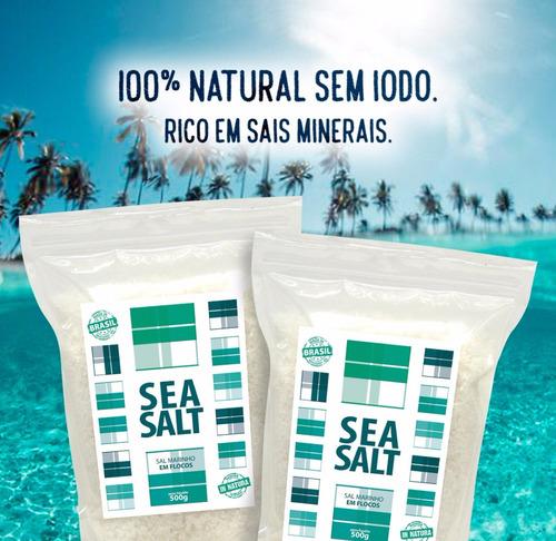 sal marinho em flocos mossoró in natura - 10 x 01 kg (10 kg)