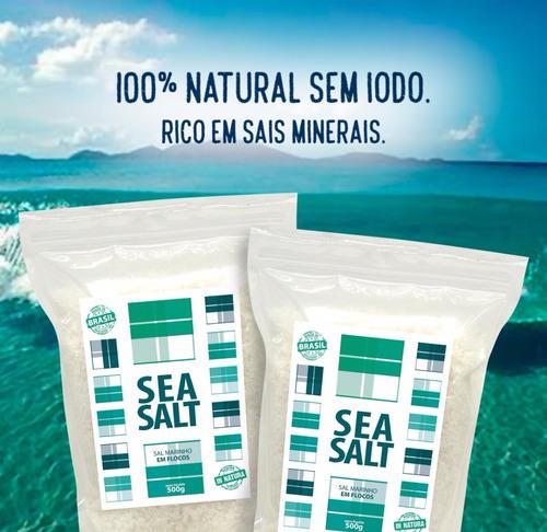 sal marinho em flocos mossoró in natura - 15 x 01 kg (15 kg)
