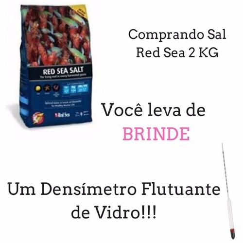 sal marinho red sea 2kg 60l mcp + densímetro