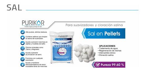 sal pellets, purikor 20 kilos suavizadores y cloradores