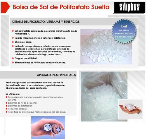sal polifosfato siliphos alemania x 1/2 kilo filtro boya