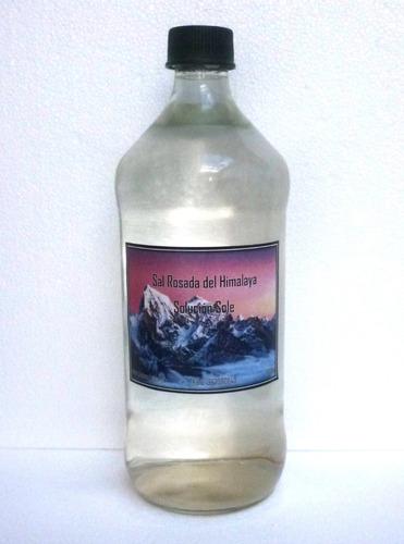 sal rosada del himalaya - solución sole 1000ml botella