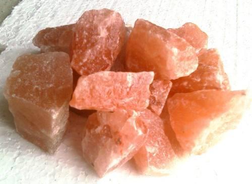 sal rosada  en piedra partida,  por  10 kg, lamparas de sal