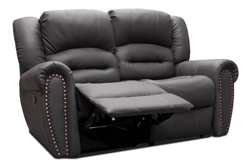 sala 100% piel reclinable sofa y love oxford - confortopiel