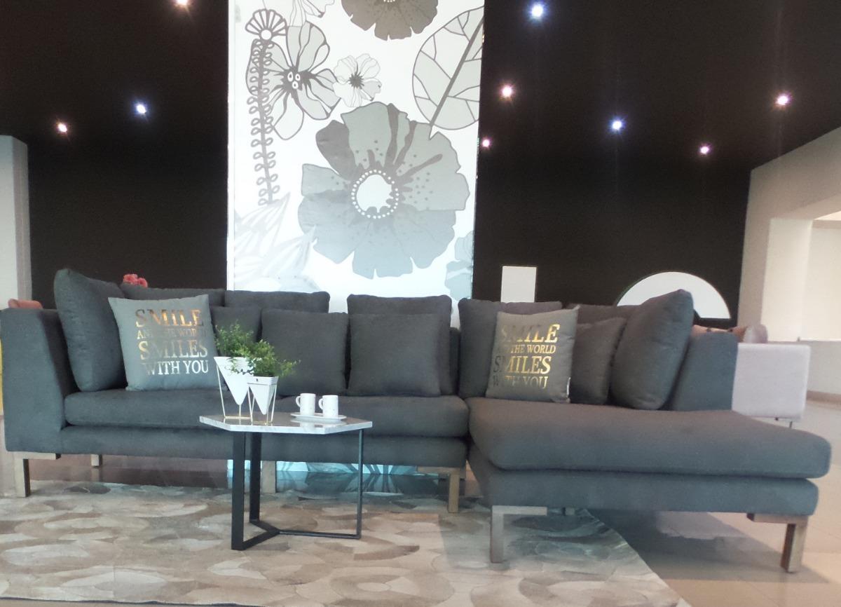 Sala 2 Sofás 4 Plazas Tapizado Madera De Pino Decoración Diseño Mueble Salas Modernas De Interior