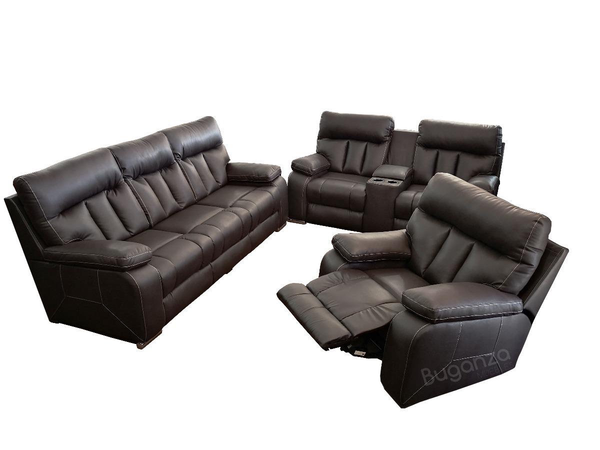 Sala 321 con sofa loveseat sillon reclinable tipo piel 18 en mercado libre - Tipos de piel para sofas ...