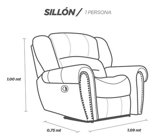 sala 5 reclinables piel - oxford - sofa love y sillón
