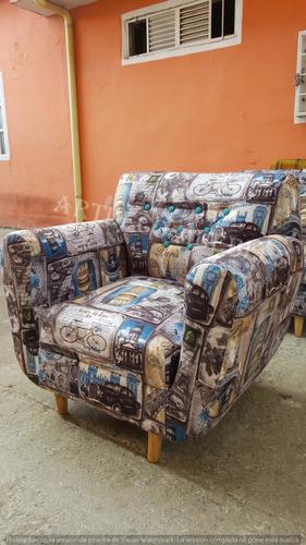 sala barú sofa 2 puestos y 2 poltronas