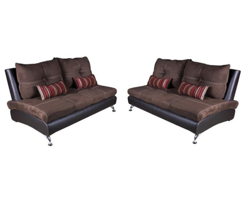 Sala boston esquinera de suede y vinil pm 4688013 for Precio de muebles para sala