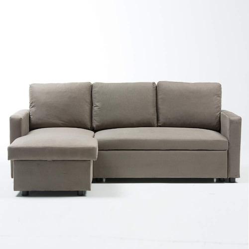 sala cama tahira tela gris izquierdo