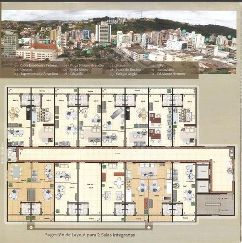 sala centro de viçosa, projeto ideal para seu negócios!!! - 3797