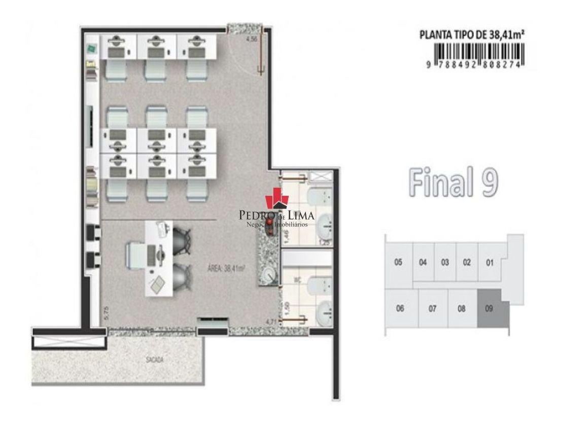 sala comercial 31  mts no tatuapé - tp9484